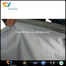 EN471 alta luz gris plata 4 vías tela elástica reflectante