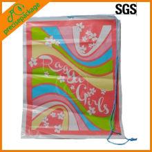 Bolso de plástico promocional promocionado del cordón lateral promocional respetuoso del medio ambiente