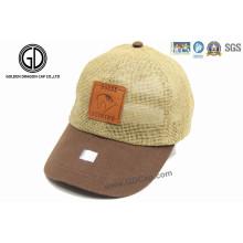 Custom Good Quality Leisure Straw Hat/ Straw Baseball Cap