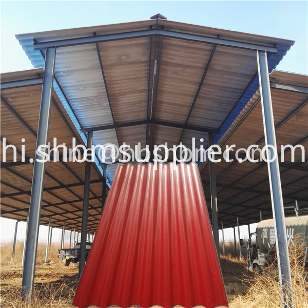 Red Pet membrane mgo roofing sheet