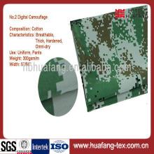 Atacado poli / algodão camuflagem militar tecido