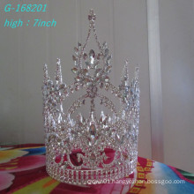 Wholesale Fashion pearl large pageant crowns full tall bride crown