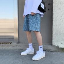 Shorts de playa holgados con cordones para hombre