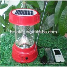 2015 горячий продукт Сбывания портативный Кемпинг Солнечной солнечный свет с Mobie зарядное устройство и радио