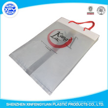Bolso de compras plástico de PO con la manija de la cuerda Bolsas De Mano