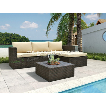 3 unit set sofa aluminium yang popular dan unik