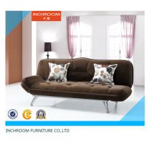 Muebles de sala Sofá cama de esquina de tela de tejido plegable