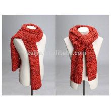 Bufanda larga hecha punto de acrílico de la manera del hilado de la fantasía del invierno de las mujeres