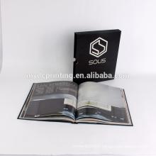 Perfect binding hardcover book printing with hard sleeve