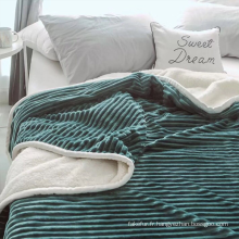 couverture de sherpa en molleton super doux 60 * 80 pouces