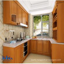 Pole U Shaped PVC Kitchen Cabinet