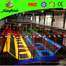 Trampoline Bed with Basketball Hoops for Shopping Malls