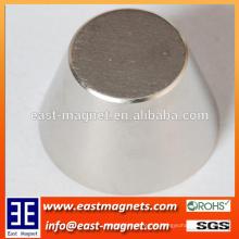 Kundenspezifische Plattform-Art / große Kegelform Neodymiun Magnet