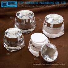 YJ-TA serie 30g 50g tarros de cosméticos envases Tarro poner crema de acrílico del diamante