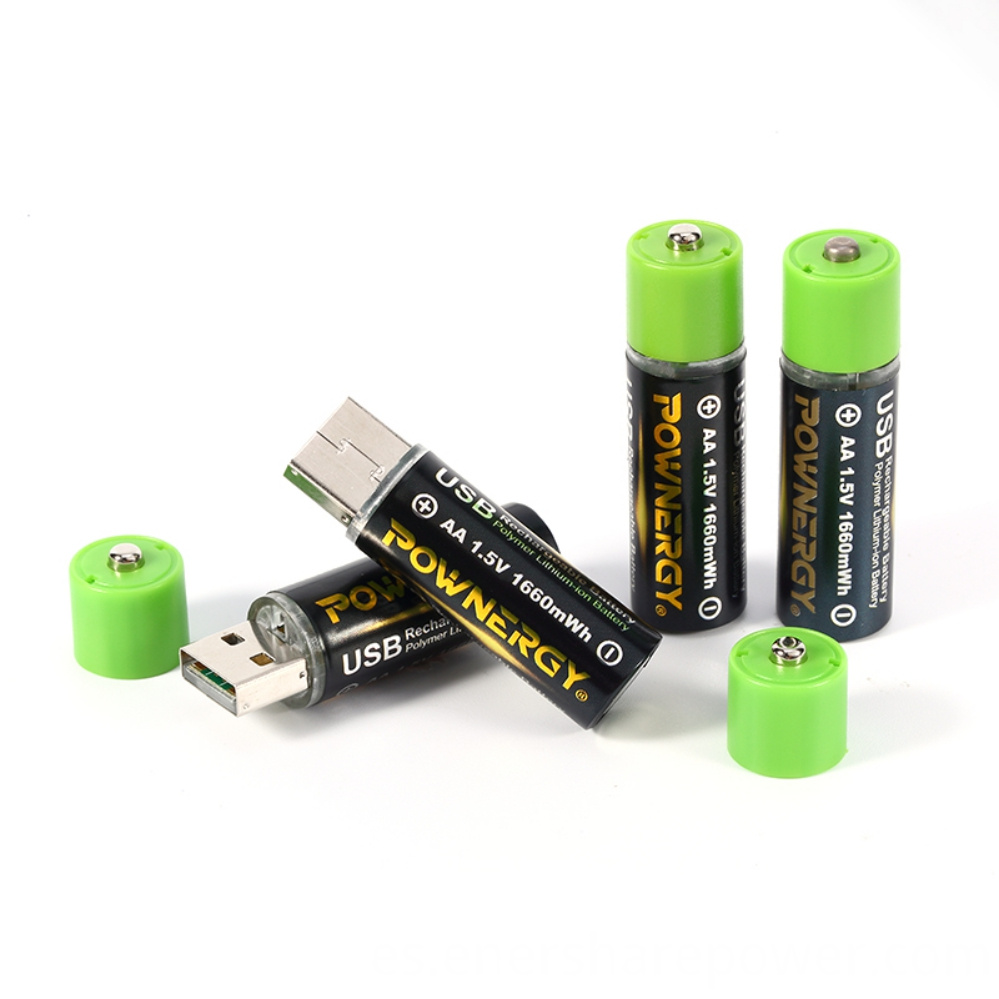 Rechargeable AA Batteries Lithium-ion