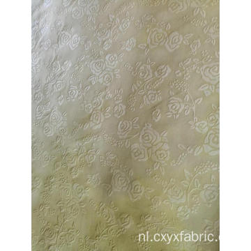Polyester roos embossing stof
