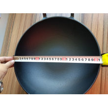 Pre-Seasoned Traditional Chinese Cast Iron Wok with Wooden Lid