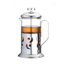 Prensa de chá 20oz com suporte de aço inoxidável