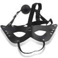 Toys for Married Couples Eye Mask with Silicone Gag Ball Party Adult Sex Mask