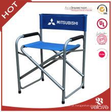 cadeira de diretor dobrável de metal alto