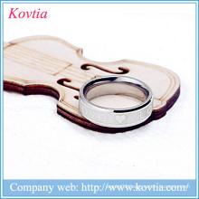 Mens gold ring designs letter LOVE heart ring titanium steel ring