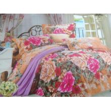 Ployester Почищенная щеткой ткань для комплектов постельных принадлежностей