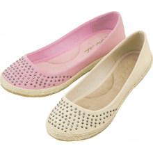 2014 quente vendendo encantadora diamante ballet planos para as mulheres rosa ou branco duas cores