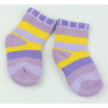 kids strip full terry socks hot selling