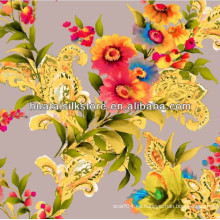 Venta al por mayor de seda pura china digital impresa de tela