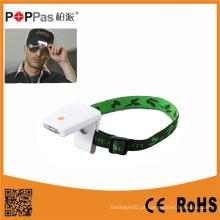 3LED mais brilhante LED de indução de plástico LED IP Sensor Headlamp (POPPAS-T101)