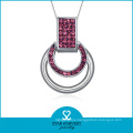 Charming Christmas Decoration Charm Necklace Silver for Ladies (N-0137)