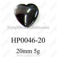 Pingentes Coração Hematita 20MM