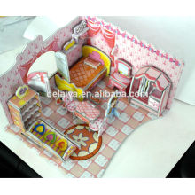 DIY educational toy 3D puzzle princess bedroom for kids