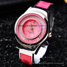 2017 neue Mode Kristall Frauen Armreif Armbanduhr