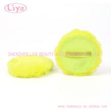 Grüne Plüsch kosmetische Blätterteig mit Logo akzeptiert