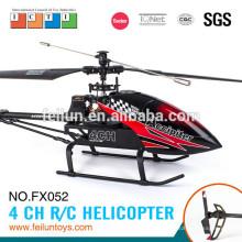 O mais profissional 2.4G 4CH alumínio liga helicóptero grande helicóptero de controle remoto fabricar certificado CE/FCC/ASTM