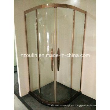 Recinto de la ducha del marco de acero inoxidable