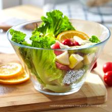 Haonai trapezium glass salad bowl thick fruit salad bowl mixing bowl wholesales