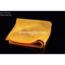 Chinese Traditional Cloud Picture Towel for Tea Tray Yellow color