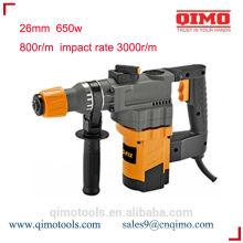 china rotary hammer drill 26mm 800w 550r/m qimo power tools