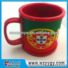 Tasse de coupe silicone drapeau Portugal pvc pour la promotion de voyage