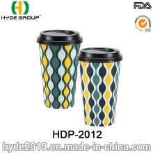 Promotional Disposable Hot Coffee Paper Cup with Lid (HDP-2012)