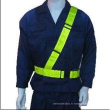 EN471 ceinture de sécurité avec ruban PVC