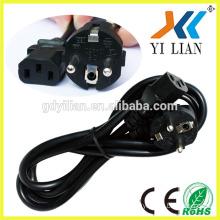 2pin eu plug 16A 250V electric welding machines VDE standard AC Europe power plug power cord