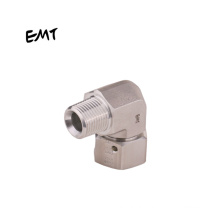 EMT hydraulic transition joint hot selling 3/8  bsp swivel male elbow fittings