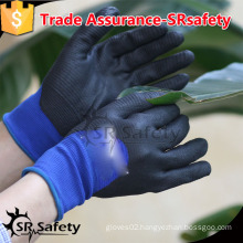SRSAFETY 13 gauge knitted nylon coated 3/4 nitrile, garden safety working gloves