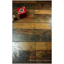12.3mm Hand Scraped Walnut V-Grooved Laminated Floor