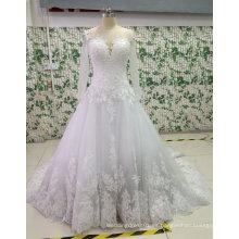 Nuevo Bead / Pearl / Rhinestone vestidos de novia con Appliques