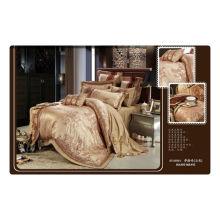 Tencel / jacquard de algodão + bordado luxuoso quarto rei conjuntos