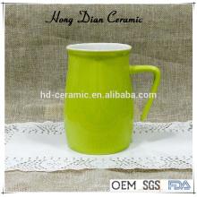 450ml Keramik-Trommel, Keramik-Becher mit Deckel, Keramikbecher mit Farbe, Steinzeug Material Keramik-Tumbler mit Griff